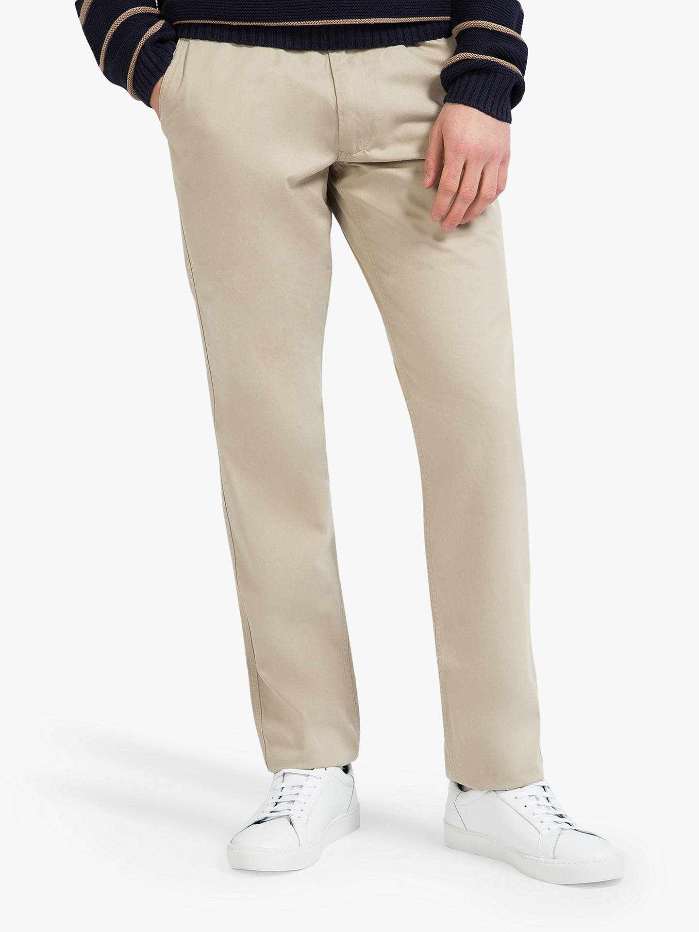 Buy Eden Park Pique Chinos, Natural, 38R Online at johnlewis.com