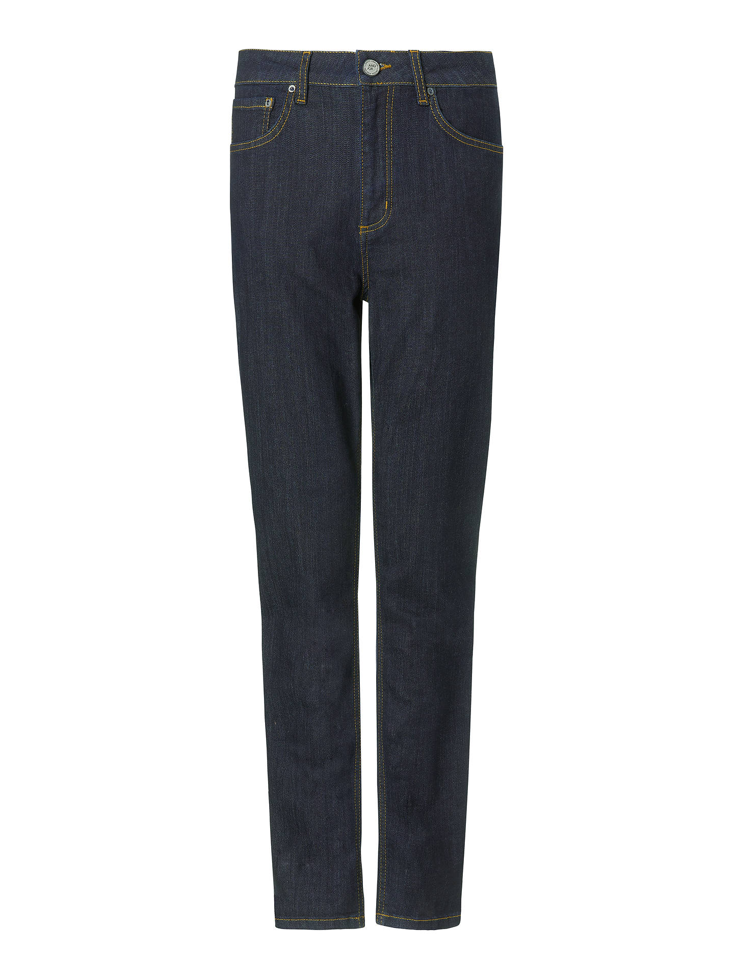 Buy AND/OR High Rise Straight Leg Jeans, Blue Rinse Wash, 30 Online at johnlewis.com