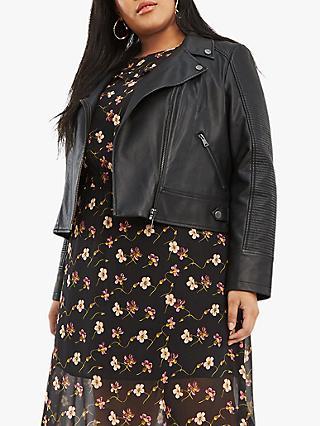 4ce35cc82cd Oasis Curve Faux Leather Biker Jacket