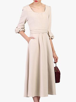Jolie Moi Bell Sleeve Dress, Oyster