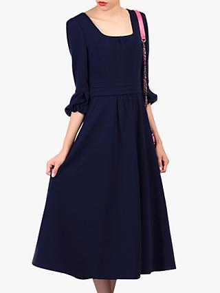 Jolie Moi Bell Sleeve Dress, Navy