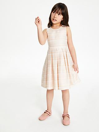503668bc83 John Lewis & Partners Heirloom Collection Girls' Textured Mesh Dress, ...