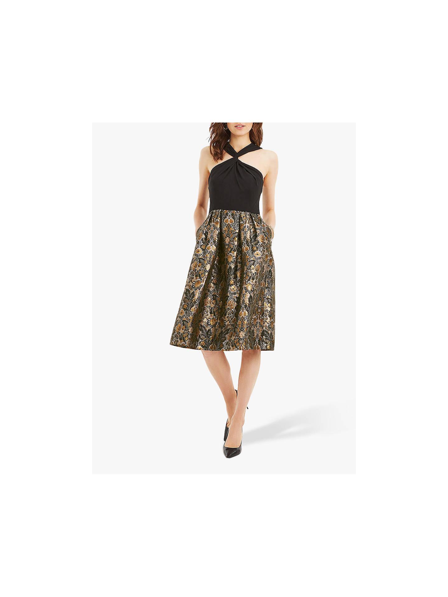 a8965a1f6bee3 Buy Oasis Warner Floral Halterneck Midi Dress, Black/Multi, 6 Online at  johnlewis ...