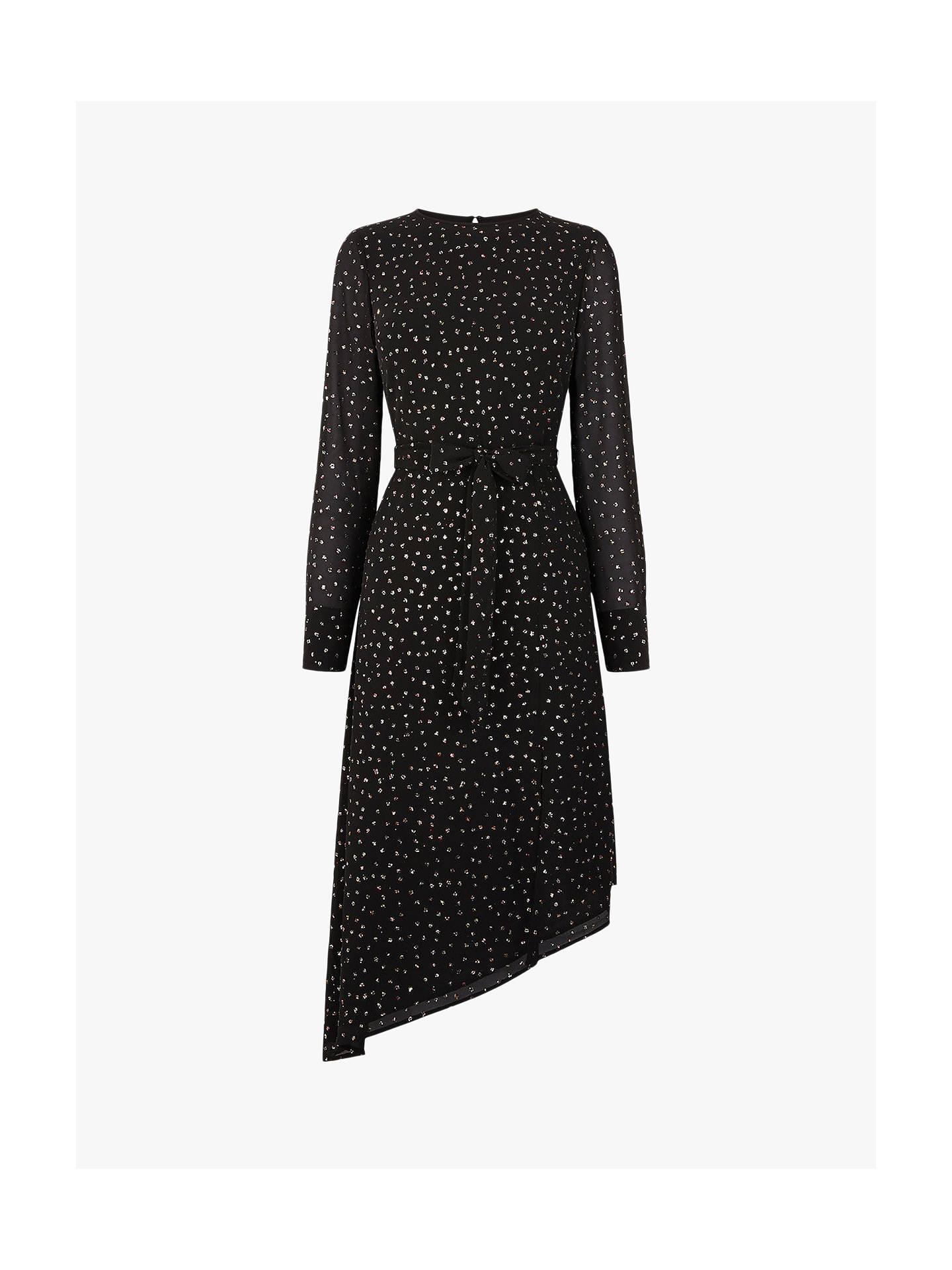 c152194b6af6 ... Buy Oasis Glitter Midi Dress, Black, 6 Online at johnlewis.com ...