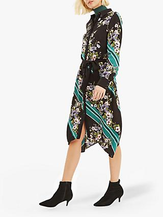 Oasis Scarf Placement Shirt Dress, Multi