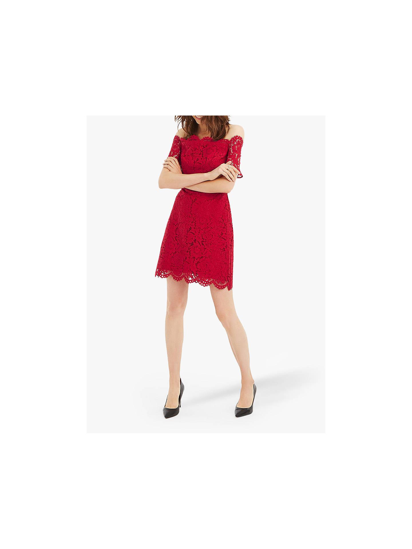 fb3a6831a978 ... Buy Oasis Lace Bardot Shift Dress