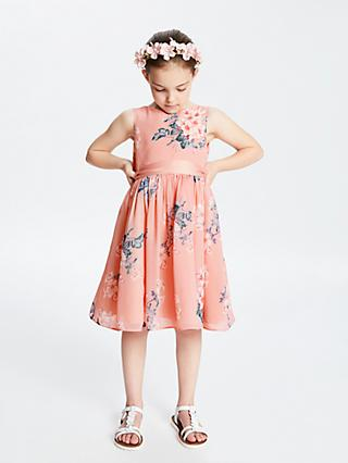John Lewis & Partners Heirloom Collection Girls' Floral Dress, Pink