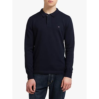 Eden Park Long Sleeve Polo Shirt, Navy