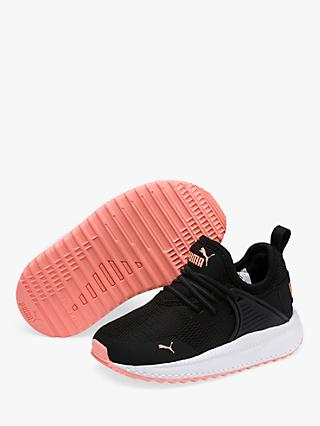 PUMA Junior Pacer Next Cage Trainers, Black/White/Pink