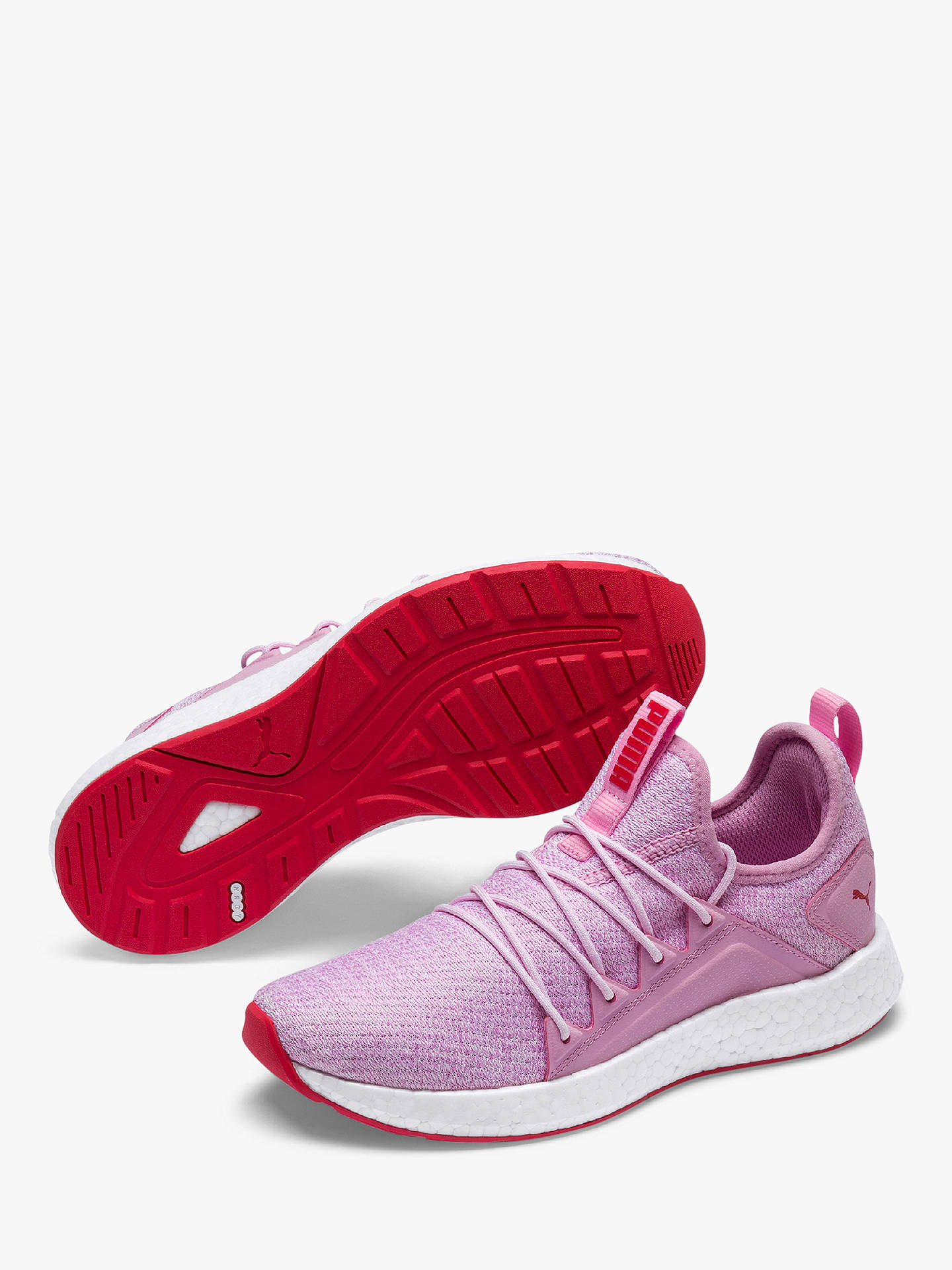 new style 5d5e8 15ea1 PUMA Children's NRGY Neko Knit Trainers, Pink