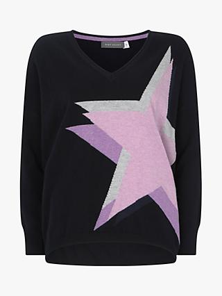 Mint Velvet Star Knit Jumper, Dark Blue
