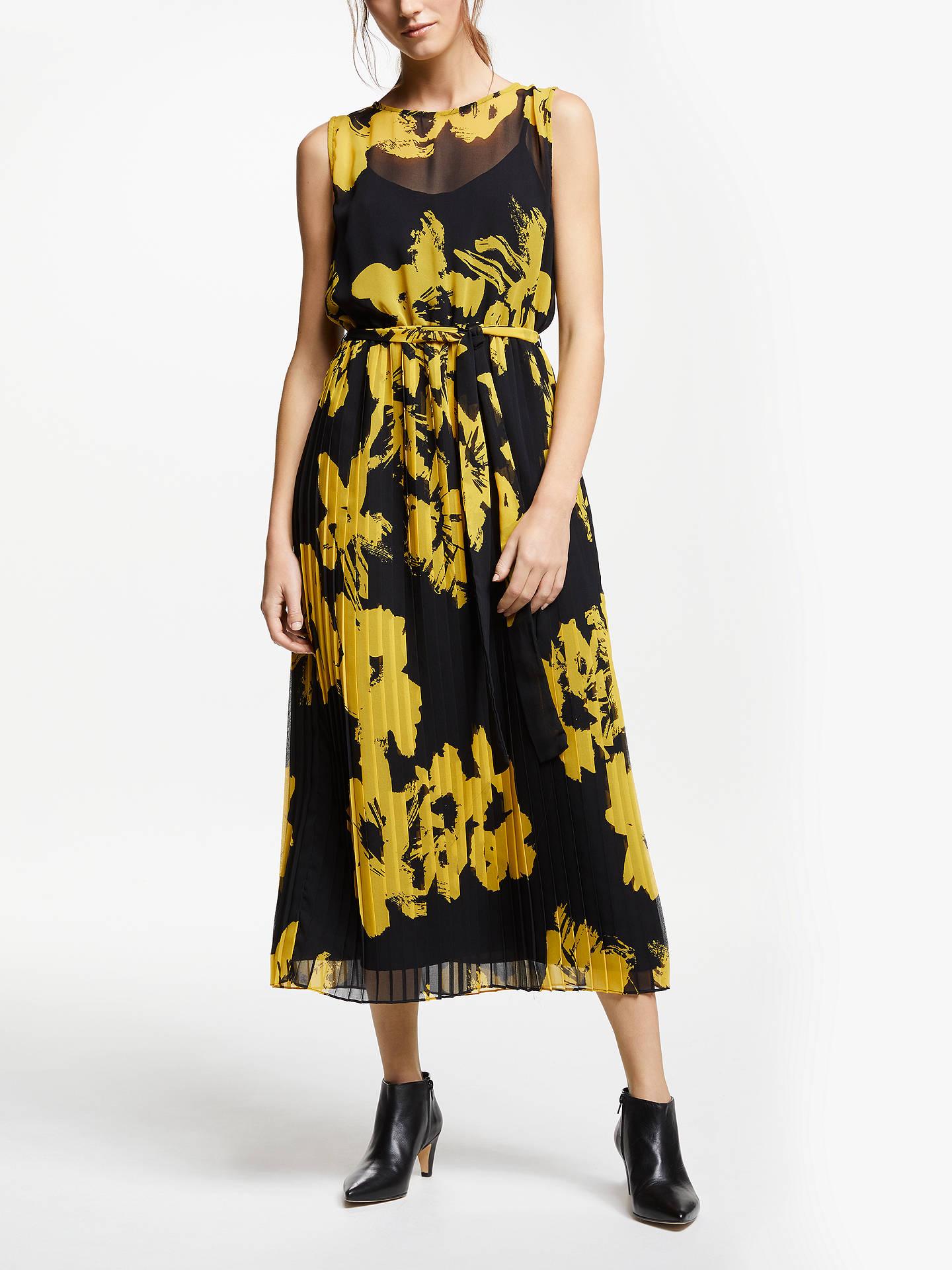 fda65ef392fc5 Marella Floral Print Maxi Dress, Yellow/Black at John Lewis & Partners