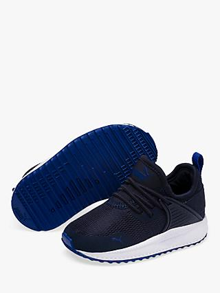 PUMA Junior Pacer Next Cage Trainers, Black/Navy/White