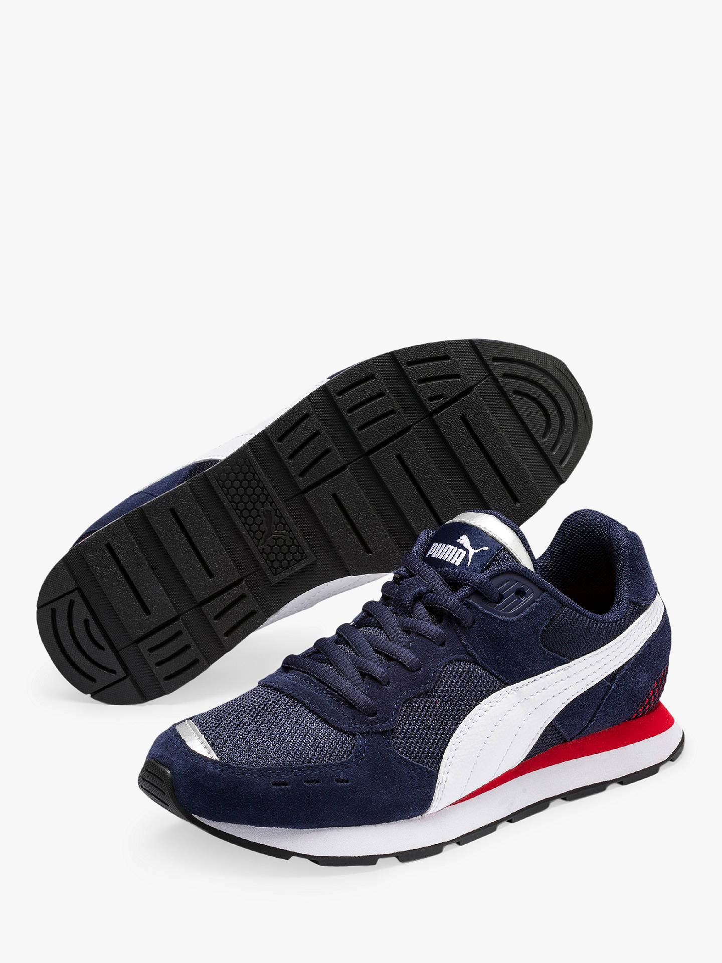 024a5040be Buy PUMA Children's Vista Trainers, Navy/Red/White, 5 Online at johnlewis  ...