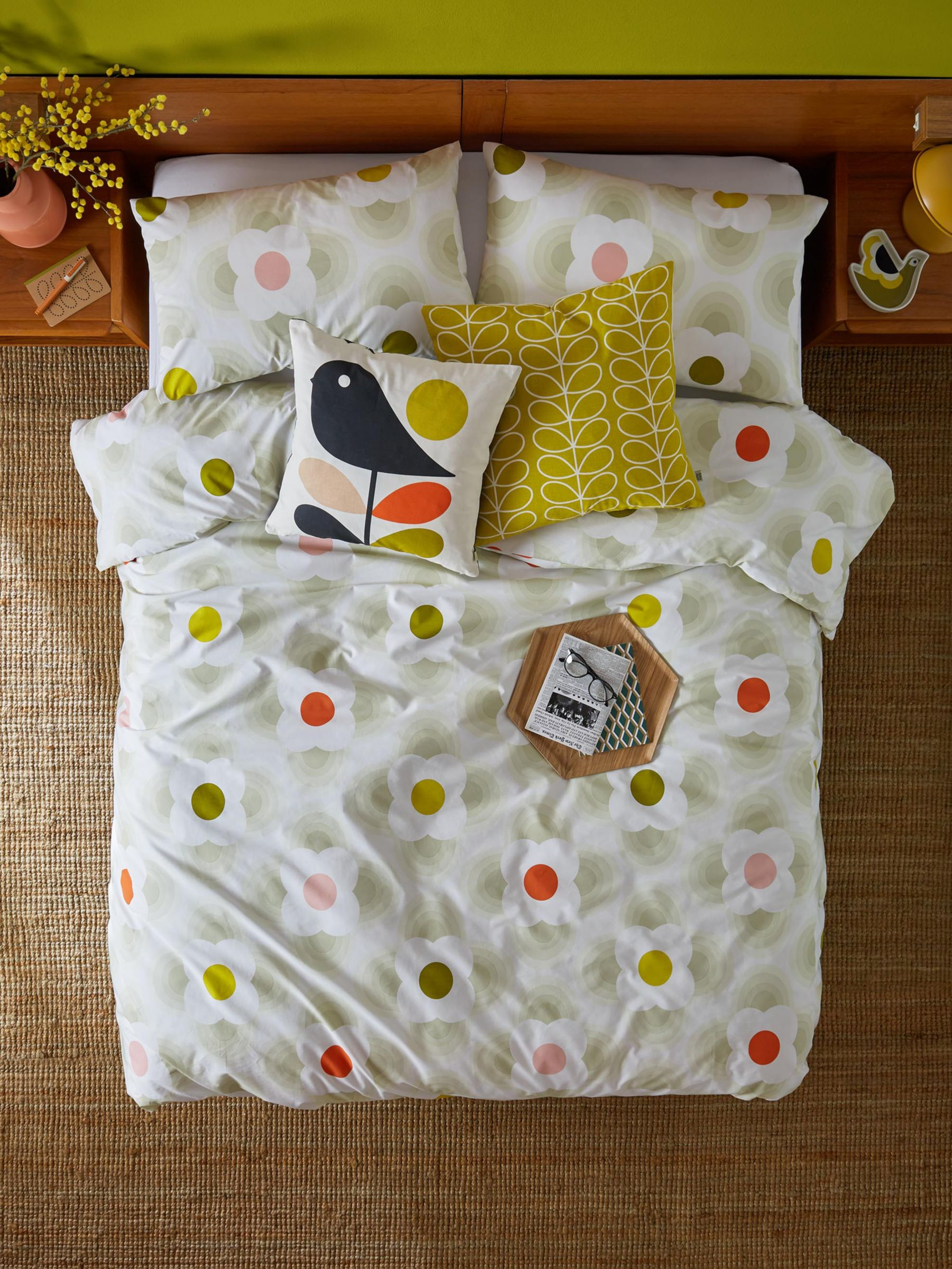 Set of 2 Orla Kiely Big Owl Pillowcases