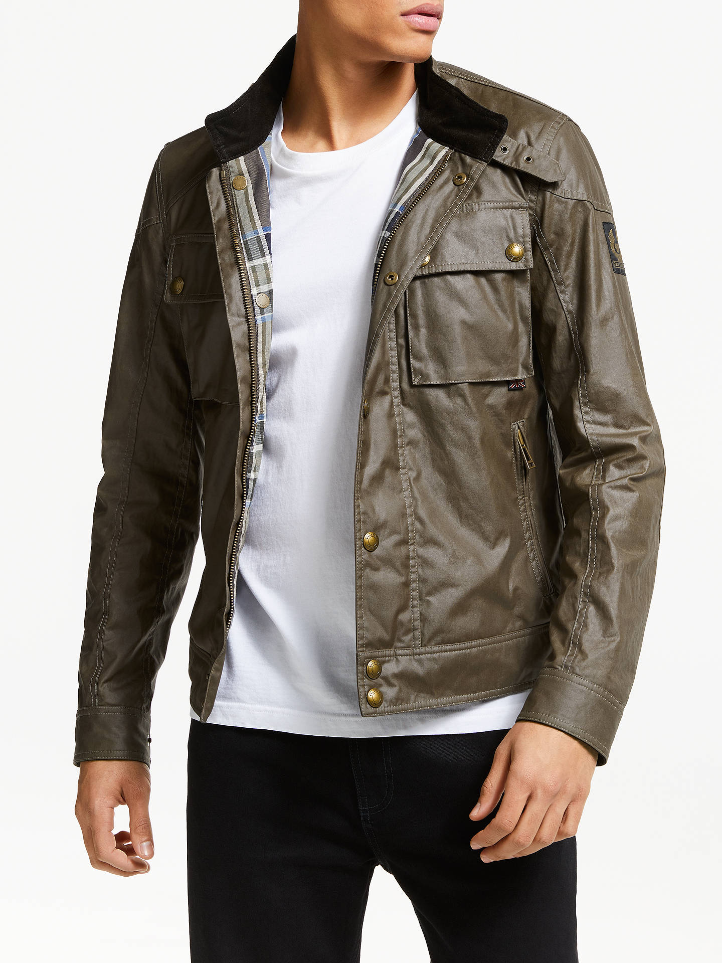 22715e39d5 Buy Belstaff Race Jacket, Bronze Oak, Bronze Oak, XL Online at johnlewis.