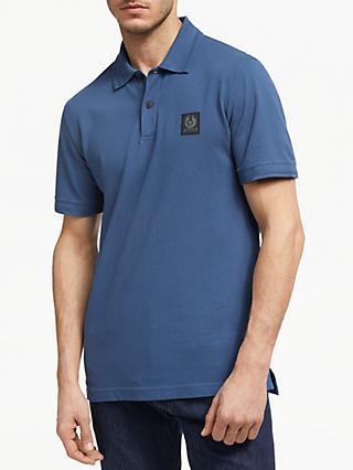 45298b57 Belstaff Stanet Short Sleeve Polo Shirt, Lagoon