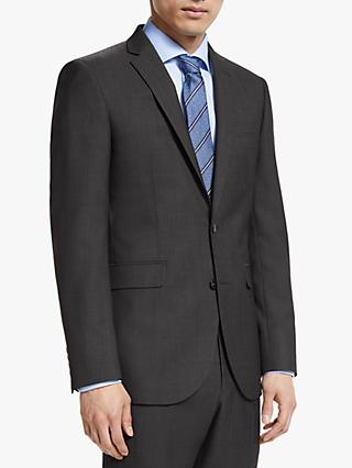 John Lewis & Partners Washable Tailored Suit Jacket, Silver Grey