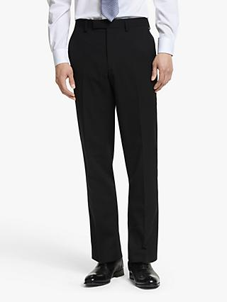 John Lewis & Partners Washable Tailored Suit Trousers, Black