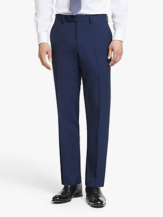 John Lewis & Partners Washable Tailored Suit Trousers, Navy