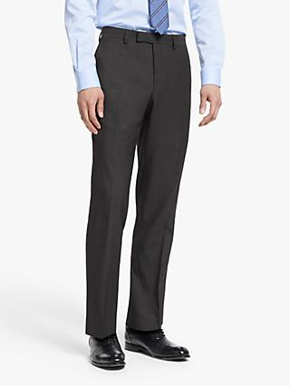 John Lewis & Partners Washable Tailored Suit Trousers, Silver Grey