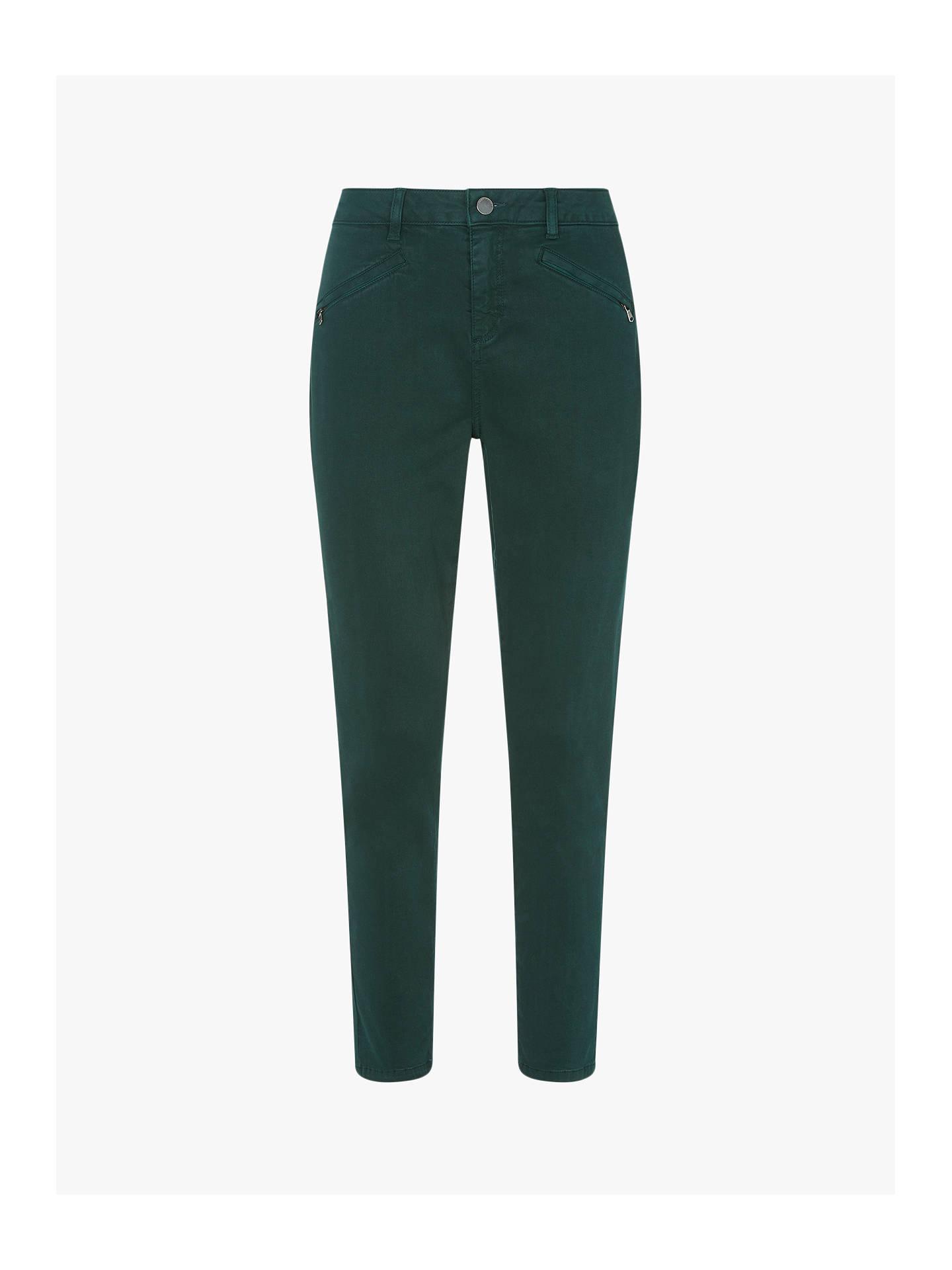 704e46043944e0 Buy Mint Velvet Skinny Trousers, Bottle Green, 6L Online at johnlewis.com  ...
