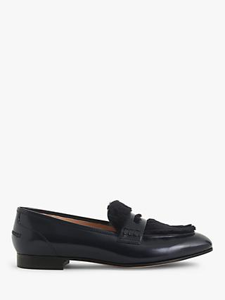 J.Crew Academy Penny Loafers, Navy Leather