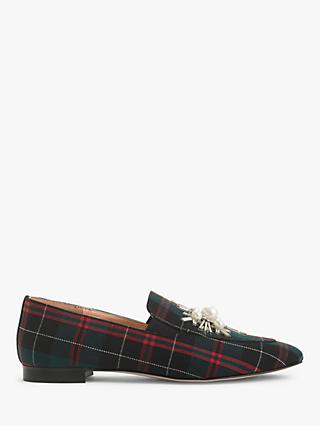 J.Crew Embellished Plaid Loafers, Multi