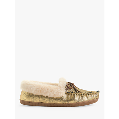 Image of J.Crew Lodge Moccasin Slippers, Dark Gold