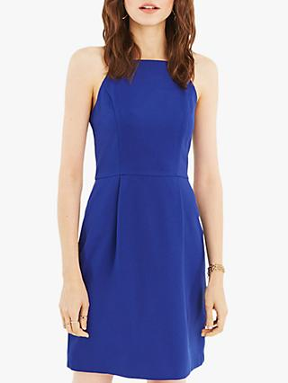 Oasis Lace Back Shift Dress, Mid Blue