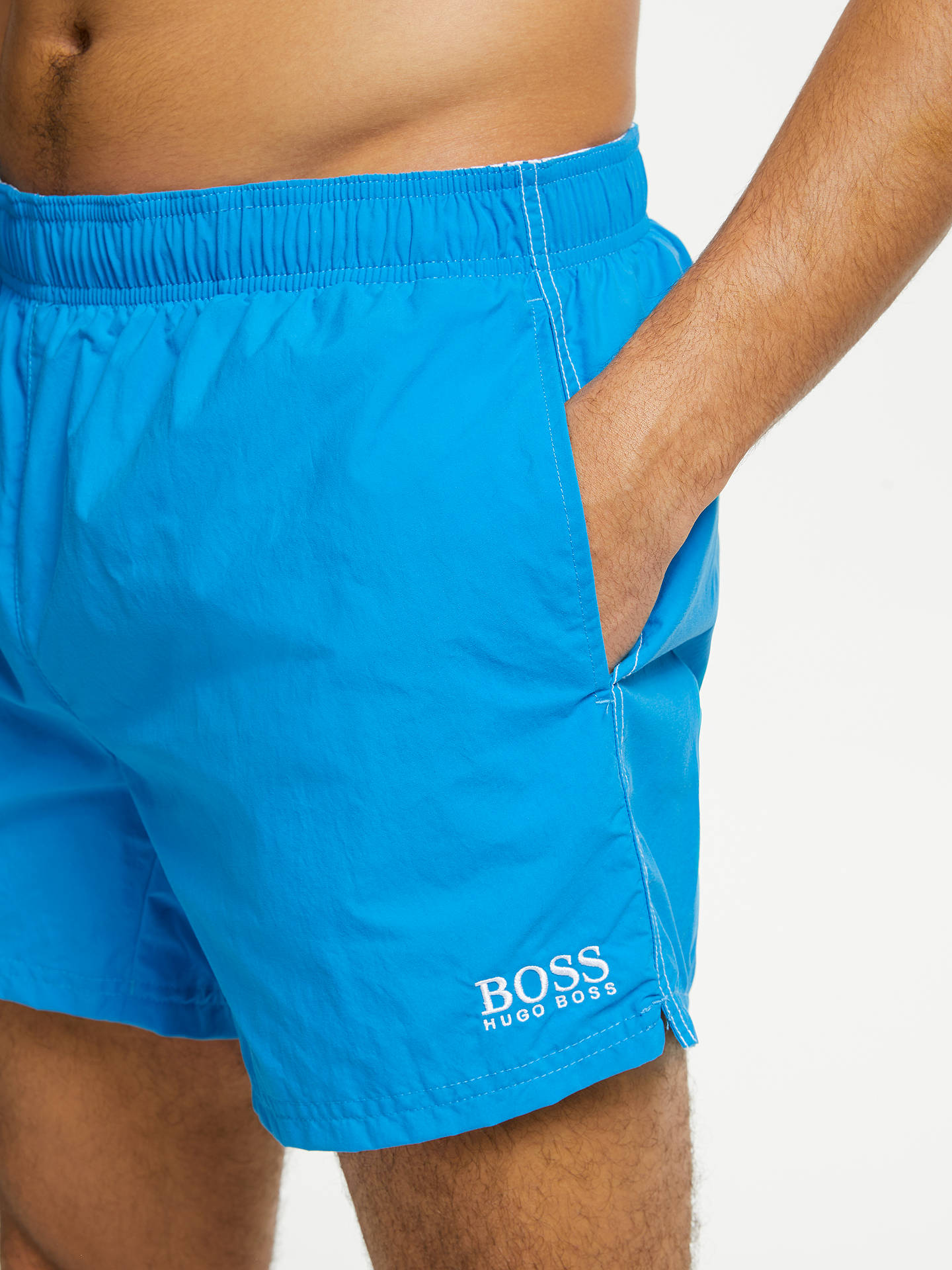 d256f18d5 ... Buy BOSS Perch Swim Shorts, Blue, L Online at johnlewis.com ...