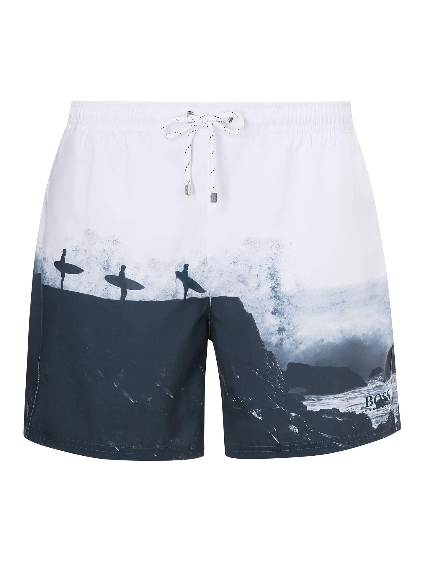 00f8be0425 Buy HUGO BOSS Surfer Photo Swim Shorts, Multi, XL Online at johnlewis.com  ...