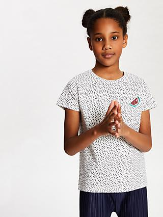 97f524223bb63 John Lewis   Partners Girls  Spot Print Watermelon T-Shirt