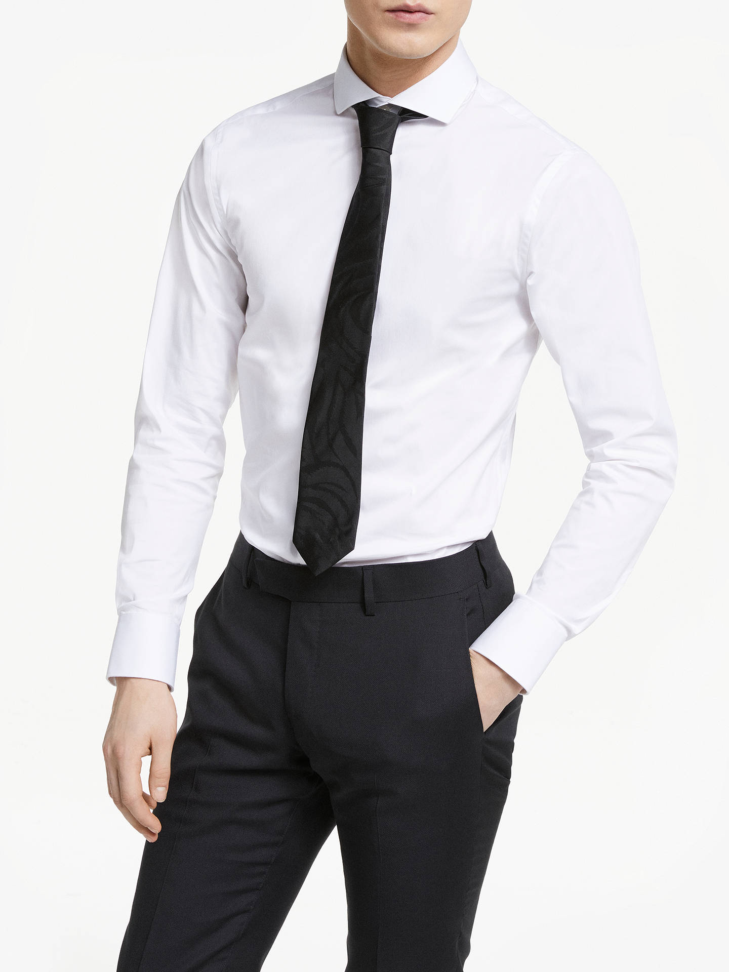 123eb477782 Buy Tiger of Sweden Farrell 5 Slim Fit Shirt, White, 15 Online at johnlewis  ...