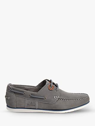 Barbour Capstan Boat Shoes, Light Grey