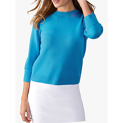 Pure Collection Toccato Blouson 3/4 Sleeve Jumper, Spring Sky