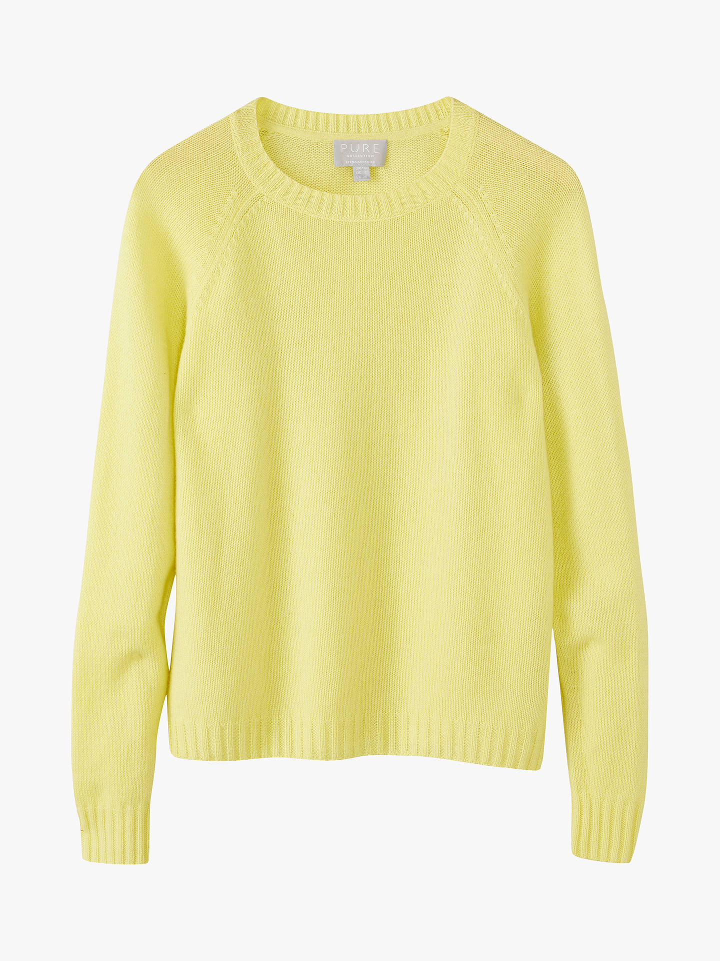 Buy Pure Collection Cashmere Jumper, Limeade, 10 Online at johnlewis.com