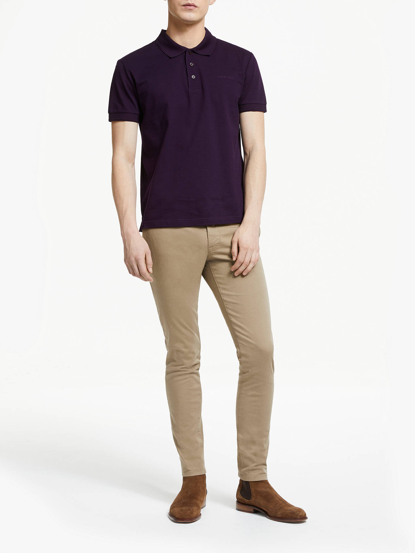 2c2af65e98f0 Buy Tiger of Sweden Transit Stretch Cotton Twill Slim Chinos, Beige, 32R  Online at ...