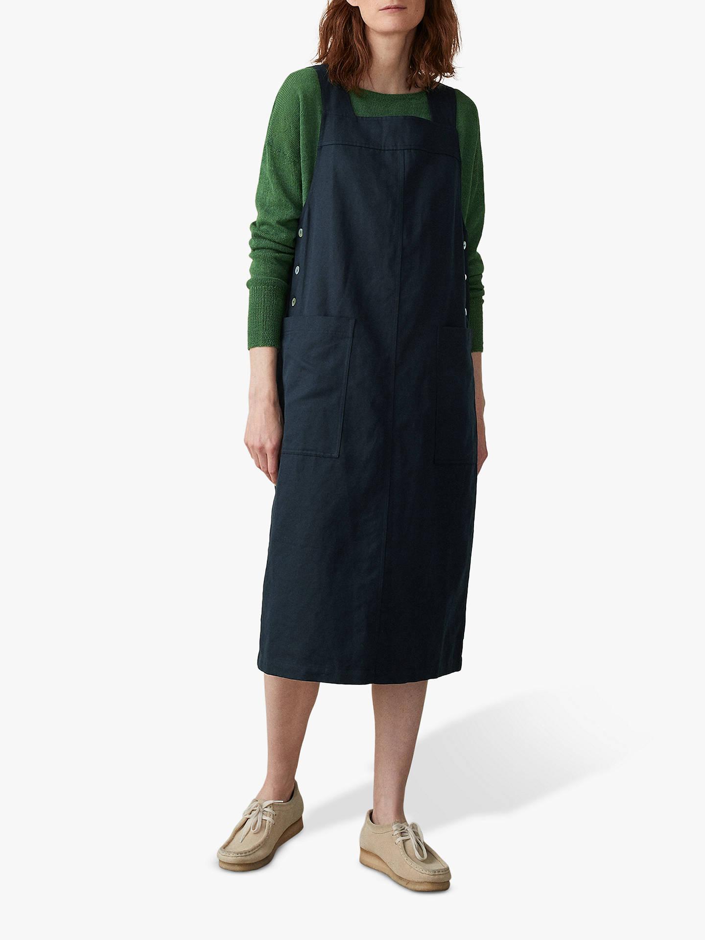 971e403d7904d Buy Toast Mara Cotton-Linen Dress, Slate, 8 Online at johnlewis.com ...
