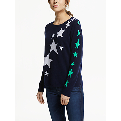Cocoa Cashmere Star Jumper, Navy