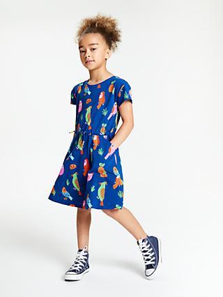 a2b67053f45 John Lewis   Partners Girls  Parrot Print Dress