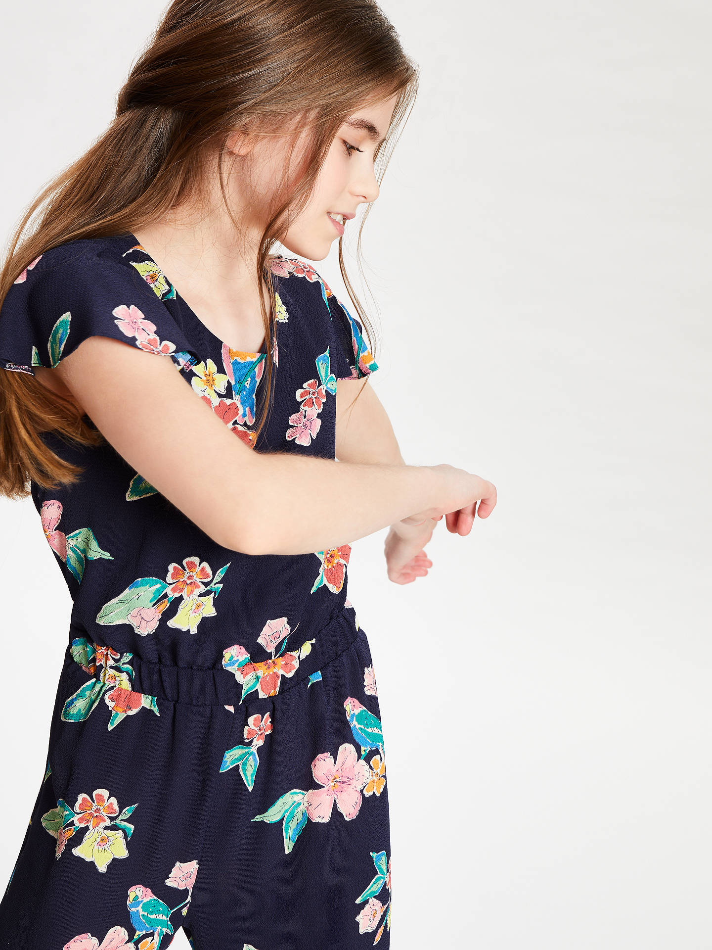 8657d2a912 ... Buy John Lewis   Partners Girls  Parrot Print Jumpsuit