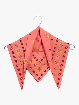 Madewell Washed Cotton Printed Bandana, Sweet Dahlia