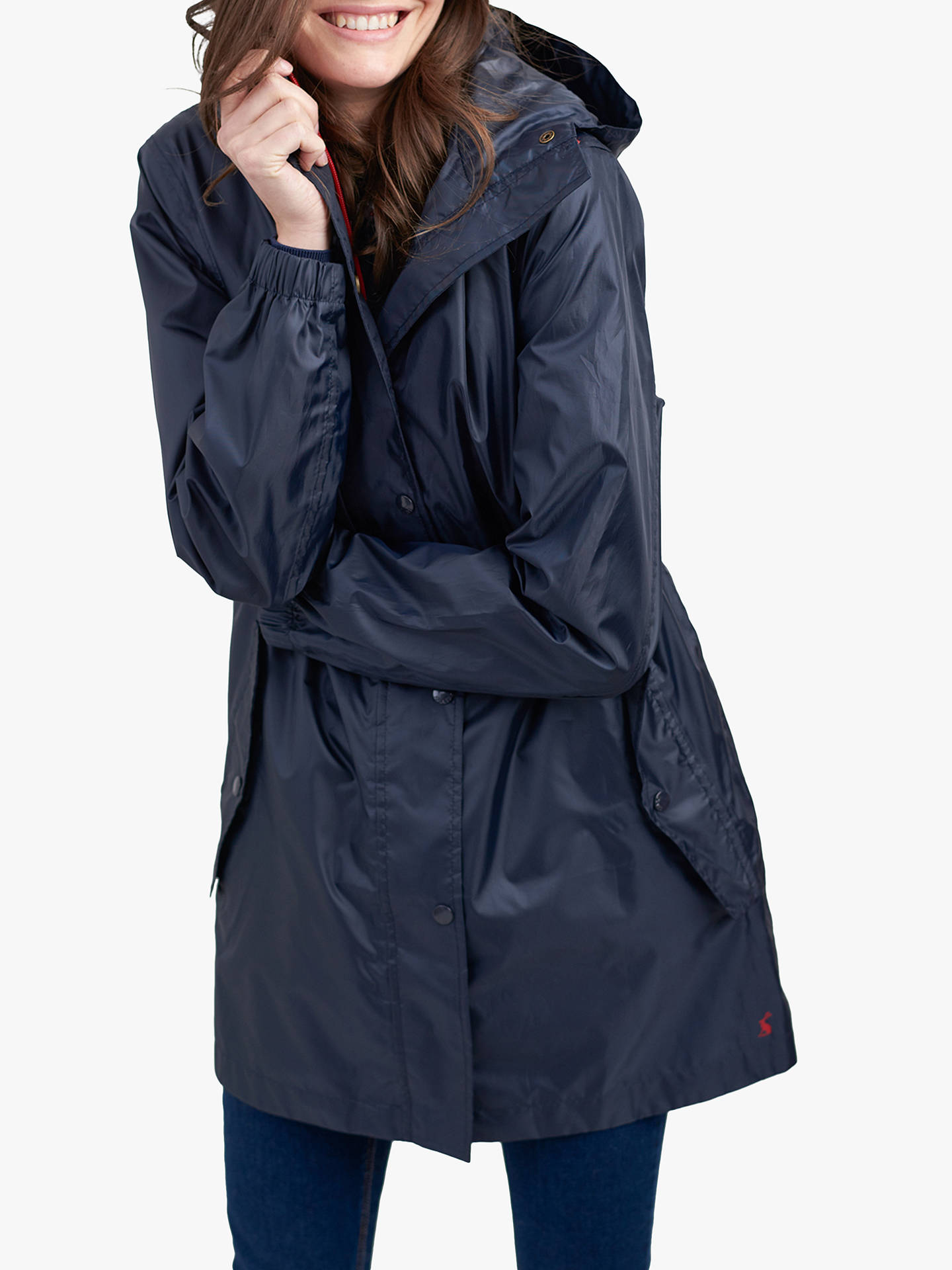 BuyJoules Golightly Pack-Away Waterproof Parka Coat, Marine Navy, 6 Online at johnlewis.com