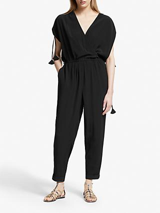 AND/OR Jodie Wrap Jumpsuit, Black