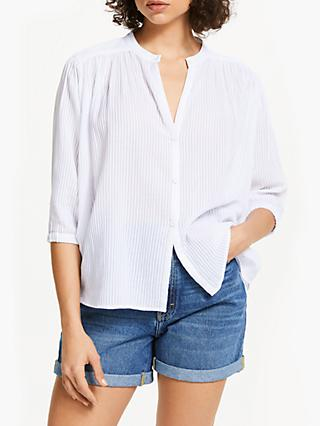 AND/OR Kate Batwing Stripe Shirt, White