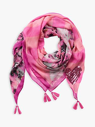 Betty Barclay Sequin Heart Floral Scarf