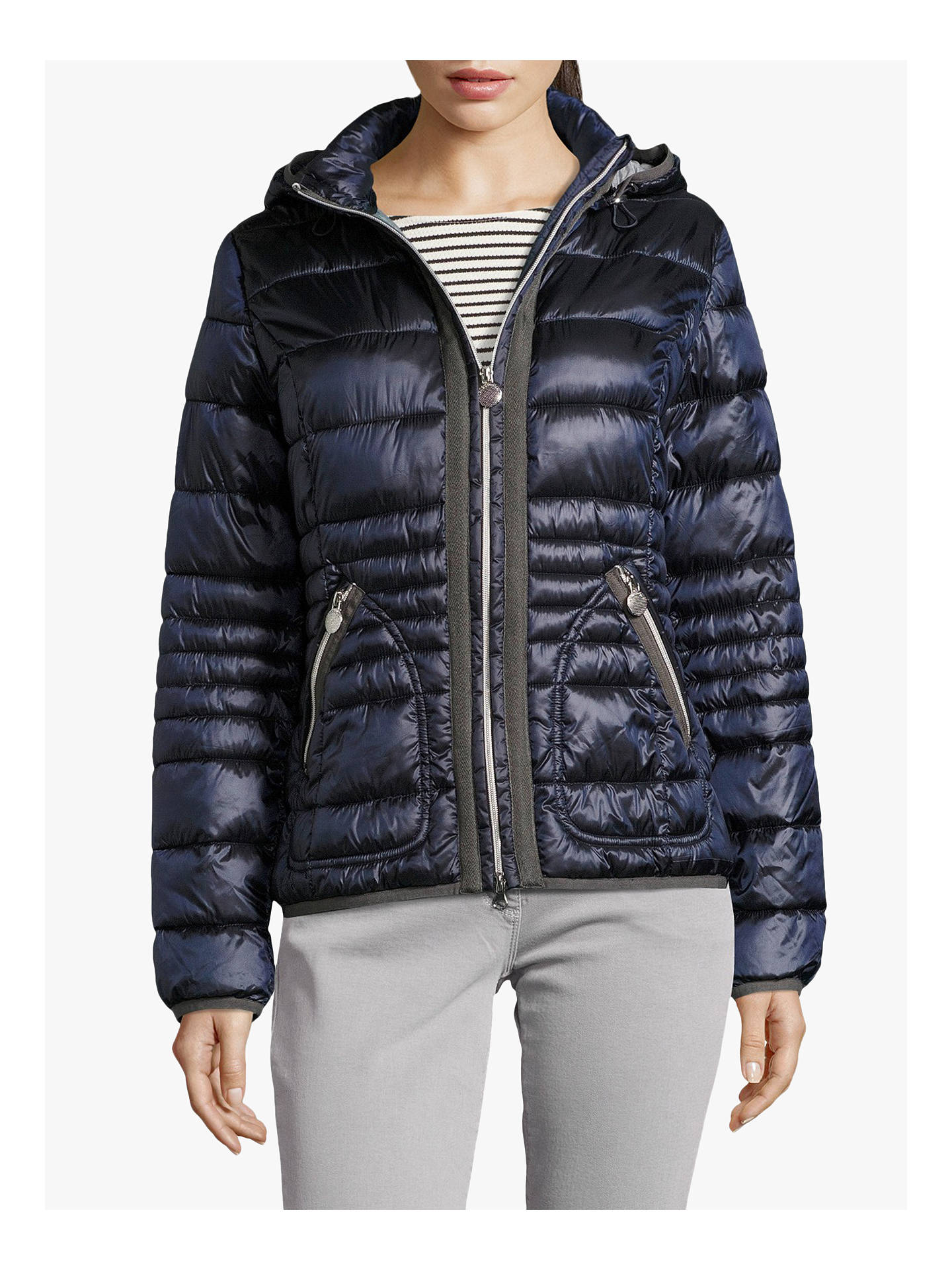 Buy Betty Barclay Quilted Jacket, Deep Navy, 10 Online at johnlewis.com