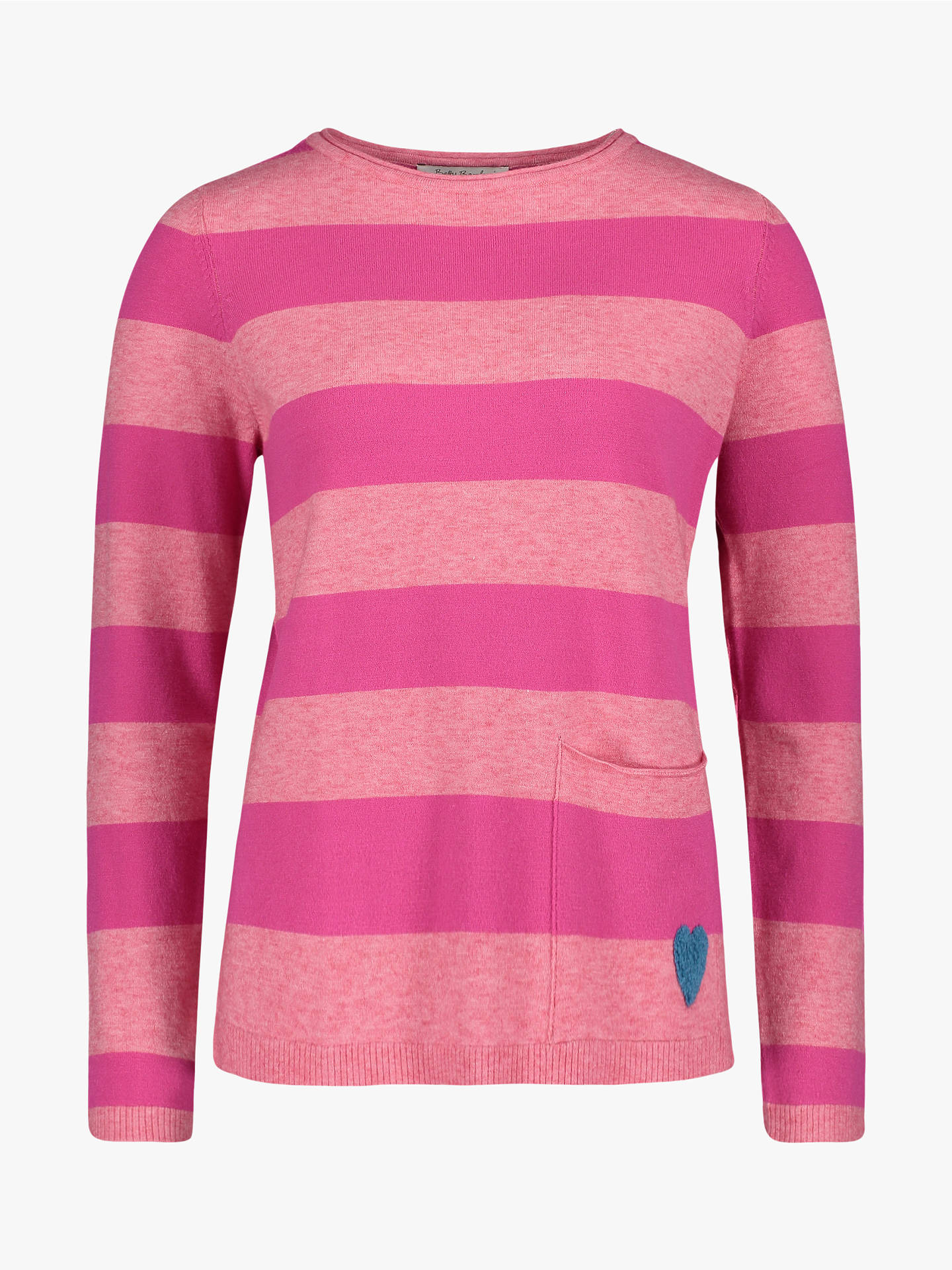 ... BuyBetty Barclay Stripe Jumper, Rose Pink, 22 Online at johnlewis.com 0107804a49