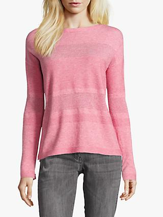 Betty Barclay Crochet Panel Jumper, Bright Pink Melange